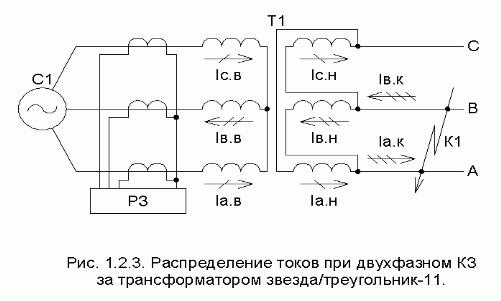 Двухфазный трансформатор схема