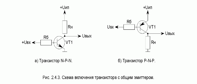 На коллектор транзистора VT1